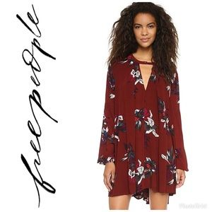 Free People Tree Swing Floral Tunic Top Dress
